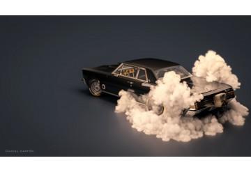 Pontiac Gto Smoking tires