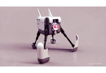 Robot abatible - version abierta 3dMax - Keyshot  Clay render