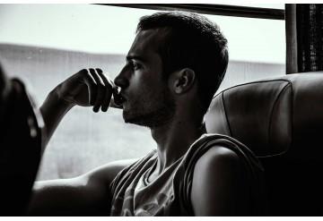 Boy in train